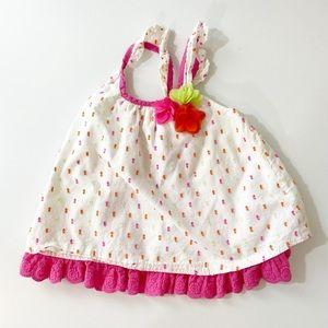 Nanette Baby Pink & White Sundress 12 Months